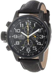 Schwarze XL-Herren-Chronograph Invicta 3332 I-Force Lefty für Linkshänder mit extra-großer Krone
