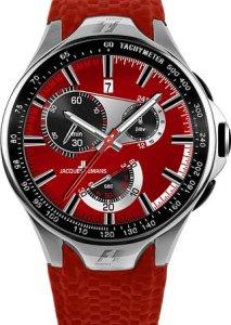 Rote Herrenarmbanduhr Jacques Lemans Formula 1 F-5026C