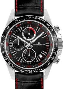 Sportlicher Männer-Chronograph Jacques Lemans 1-1327A in Schwarz