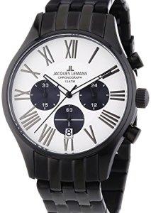 Schwarz-Weißer Herren-Chronograph Capri 1-1342B von Jacques Lemans