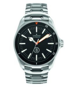 Sportliche Junghans 027/3211.44 Willy Bogner Herrenuhr mit Automatikuhrwerk und interssantem Edelstahl-Armband für Männer