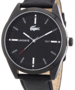 Lacoste Montreal Armbanduhr 2010598 mit 44 mm Gehäuse und Lederarmband in Schwarz