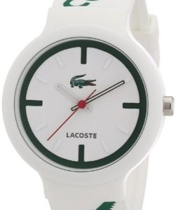 Lacoste Unisex-Armbanduhr GOA 2010522 in Grün-Weiß mit Silikonarmband