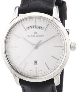 Elegante Herrenuhr Maurice Lacroix Les Classiques LC1007-SS001-130 mit Wochentag- und Datumsanzeige
