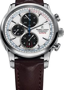 Schweizer Chronograph Maurice Lacroix Pontos PT6288-SS001-130 mit Automatik-Uhrwerk und Schwarz-Weiß Zifferblatt