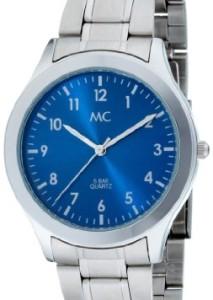 Modische Unisex-Armbanduhr MC 23888 mit SIlber-Blau-Optik