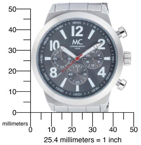 MC Timetrend Herren-Armbanduhr 26309 mit grauem Zifferblatt und 45 mm Edelstahlgehäuse