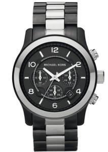 Hochwertiger Herren-Chronograph Michael Kors Eunway MK8182 mit Gunmetal-Beschichtung und schwarzem Zifferblatt