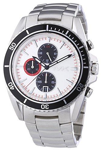 Sportlicher und maskuliner Chronograph Michael Kors MK8339 mit Schwarz-Weiß-Rot Optik