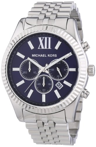 Lexington Herrenarmbanduhr Michael Kors Mk8280 mit dunkelblauem Zifferblatt
