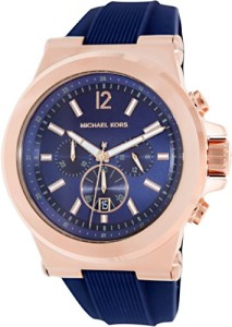 Michael Kors MK8295 Armbanduhr für Männer mit Roségold und Dunkelblau