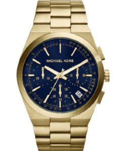 Gold-Blauer Michael Kors MK8338 Herren-Chronograph