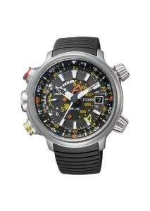 Outdoor-Armbanduhr Citizen Promaster Altichron mit XXL-Gehäuse und schwarzem PU-Armband