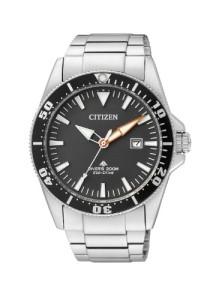 Zertifizierte Taucheruhr Citizen Promaster mit Edelstahlgehäuse und -armband