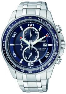 Citizen Herren-Armbanduhr Super Titanium CA0345-51L mit dunkelblauem Zifferblatt