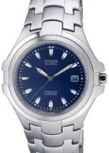 Citizen Herrenuhr Super Titanium BM1290-54L mit blauem Zifferblatt