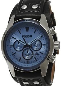Maskuline Herrenuhr Fossil CH2564 mit blauem Mineralglas