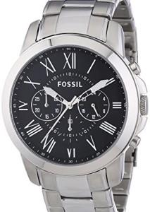 Eleganter Edelstahl-Chronograph für Herren - Fossil Grant FS4736