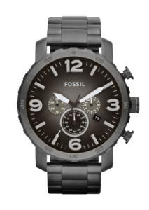 Massiver Edelstahl-Chronograph Fossil Nate für Männer