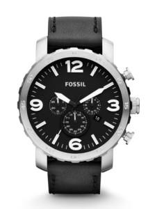 Schwarzer Chronograph Fossil JR1436 mit XXL-Gehäuse