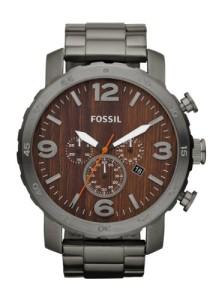 Männer-Chronograph Fossil JR1355 Nate mit Grau und Braun