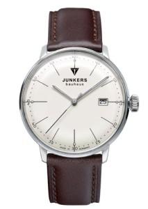 Klassische Herrenuhr Junkers Bauhaus 6070-5 mit feinen Linien