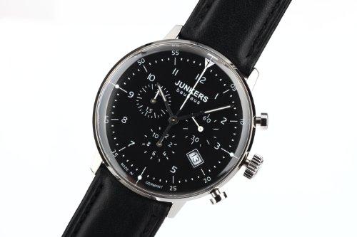 Eleganter Bauhaus Chronograph 6086-2 mit schmalem Edelstahlgehäuse