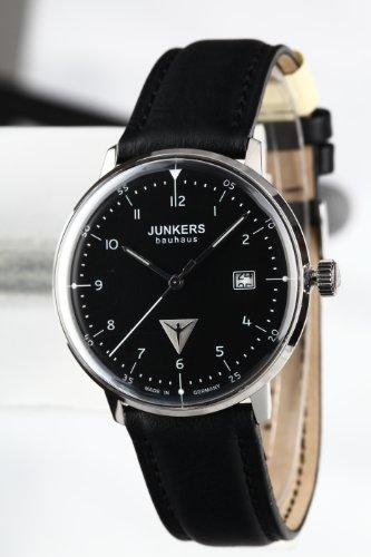 Klassische Herrenuhr Junkers 6046-2 im Bauhaus-Stil