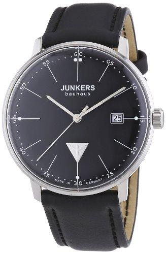 Zeitlose Herrenuhr Junkers Bauhaus 6070-2 in Schwarz-Silber