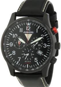 Schwarzer Junkers Herren-Chronograph 6680-2 mit sportlicher Optik