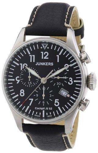 Junkers Herren-Armbanduhr Cockpit JU52 6180-2 mit Vintage-Armband