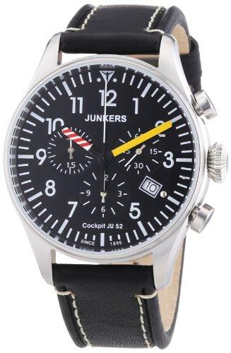 Junkers Cockpit JU52 Chronograph 6180-3 mit farbigen Zeigern und kleiner Sekunde