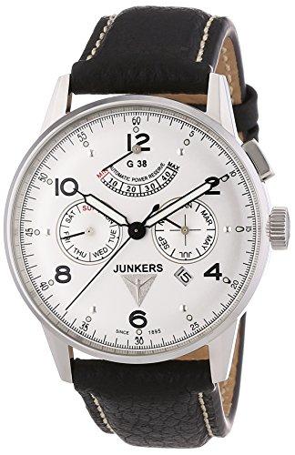 Junkers Herren-Armbanduhr G38 Automatikuhr 6960-1 mit Gangreserve-, Datums-, Wochentags- und Monatsanzeige