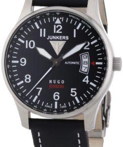 Hugo Junkers Herren-Armbanduhr 6664-2 mit Automatik-Uhrwerk und Lederarmband