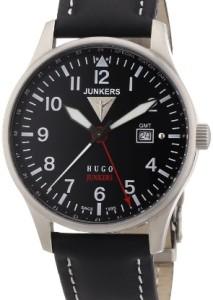 Schwarze Junkers GMT-Uhr mit vier zentralen Zeiger und 2. Zeitzone