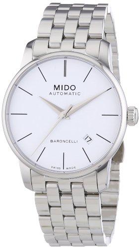Elegante Herren-Automatikuhr Baroncelli ii M86004761 mit weißem Zifferblatt