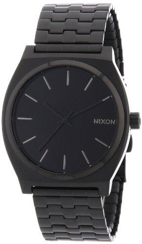 Komplett schwarze Herrenarmbanduhr Nixon All Black A045001-00 Time Teller