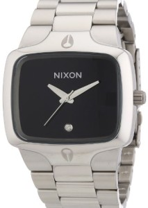 Nixon Herren-Formuhr A140000-00 in Silber und Schwarz