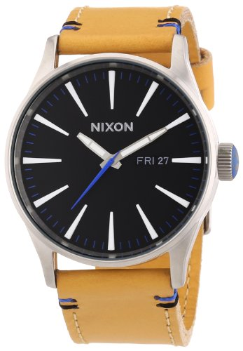 Nixon Herren-Armbanduhr A1051602-00 mit braunem Lederarmband