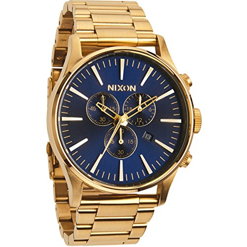 nixon sentry a3861922 00 gold blauer herrenchronograph. Black Bedroom Furniture Sets. Home Design Ideas