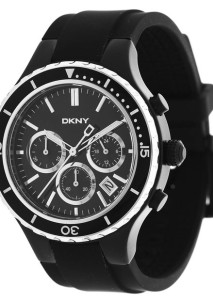Schwarz-silberner Herren-Chronograph NY1468 von DKNY