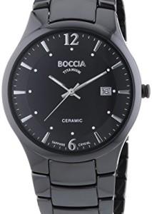 Boccia Herren-Armbanduhr 3572-02 Ceramic in Schwarz