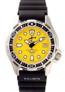 Sportliche Taucheruhr Chris Benz Deep 500m Yellow