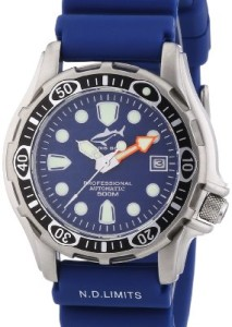 Blaue Automatik-Taucheruhr Chris Benz Deep 500m