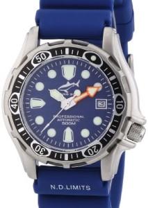 Blaue Automatik-Taucheruhr Chris Benz Deep 500m