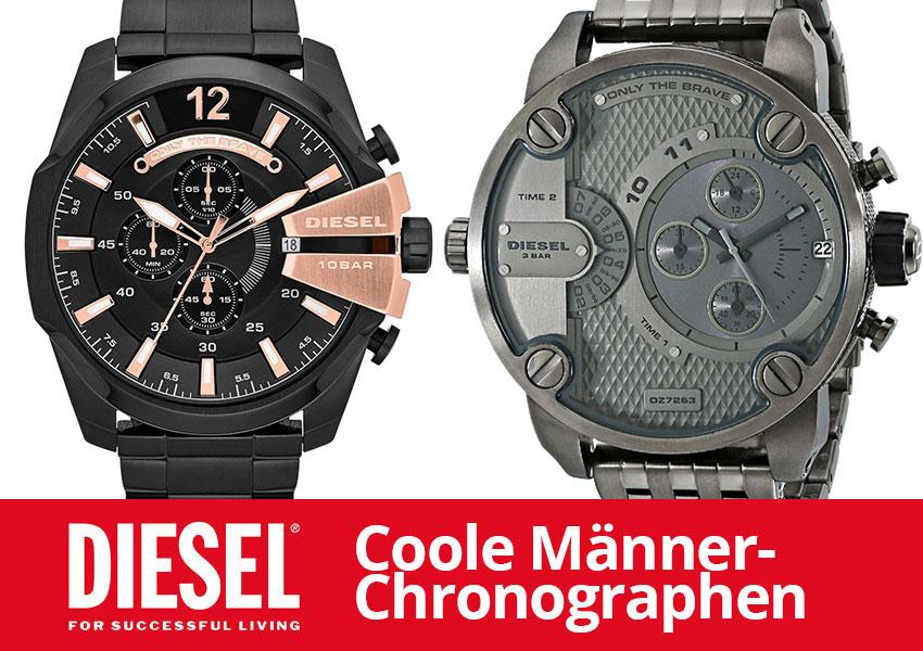 Diesel Chronographen – Große Männeruhren die dich umhauen