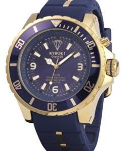 Gold-Blaue Herrenuhr Kyboe KG-002 Giant 55