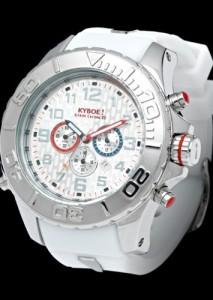 Silber-Weiße Herrenuhr Kyboe KYM-001 Giant 48