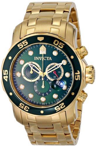 Invicta Chronograph 0075 in Gold und Grün