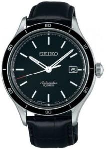 Elegante Seiko SARG017J Herrenarmbanduhr mit Automatikuhrwerk und schwarzem Zifferblatt
